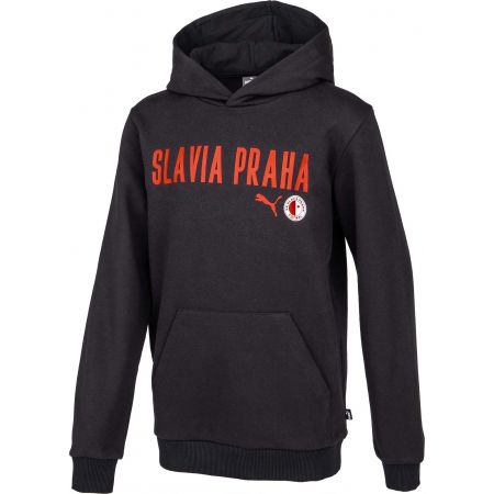 Мъжки суитшърт - Puma Slavia Prague Graphic Hoody BLK - 2