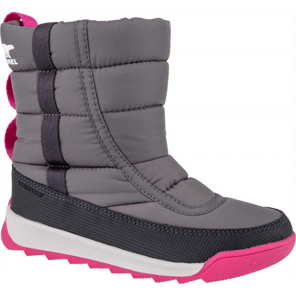 Sorel YOUTH WHITNEY II PUFFY M šedá 12 - Dětská unisex zimní obuv