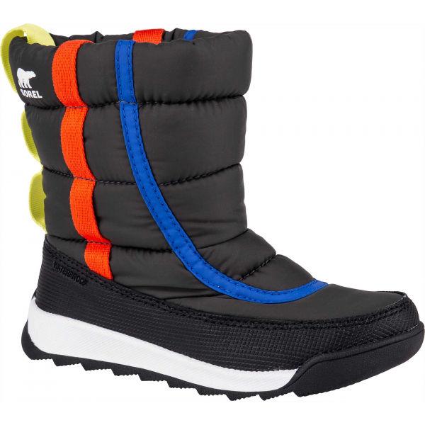 Sorel YOUTH WHITNEY II PUFFY M černá 11 - Dětská unisex zimní obuv