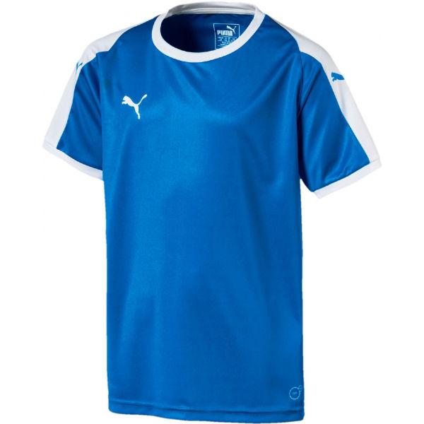 Puma LIGA  JERSEY JR modrá 128 - Chlapecké triko