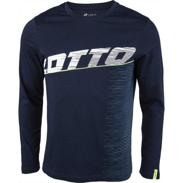 Lotto LOGO IV TEE LS JS - Pánske tričko s dlhým rukávom