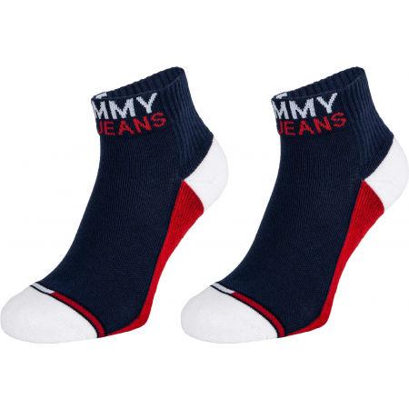Tommy Hilfiger UNISEX TOMMY JEANS QUARTER 2P - Универсални чорапи