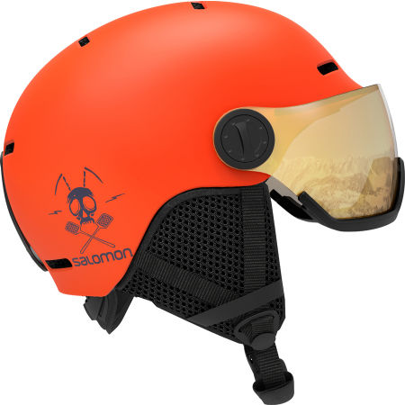 Salomon GROM VISOR - Children's ski helmet