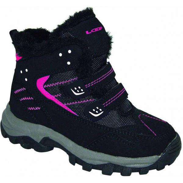 Loap BERNY ružová 35 - Detská zimná obuv
