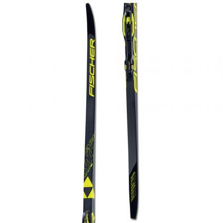 Fischer TWIN SKIN RACE MED/STIFF + RACE CLASSIC - Běžecké lyže na klasiku s podporou stoupání