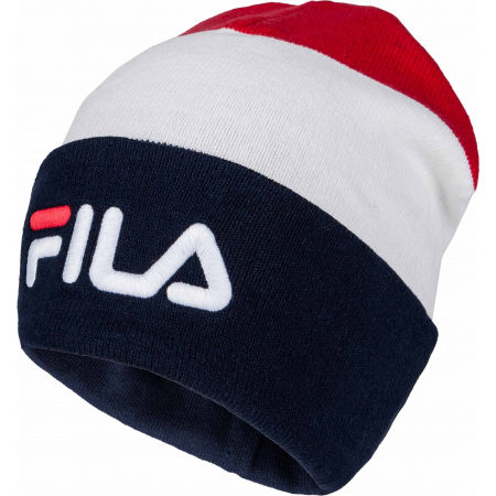 Fila BLOCKED SLOUCHY BEANIE WITH LINEAR LOGO - Winter beanie