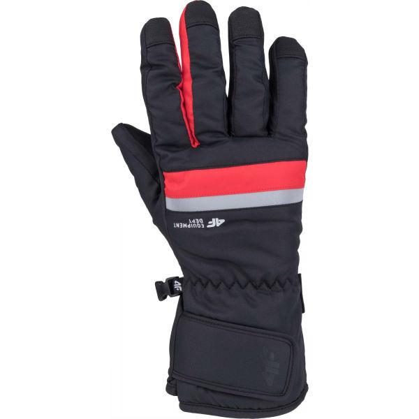 4F SKI GLOVES červená S - Lyžařské rukavice