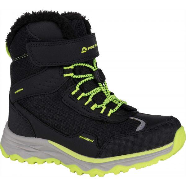 ALPINE PRO VESO sivá 31 - Dievčenská zimná obuv