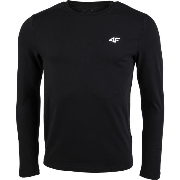 4F MEN´S LONG SLEEVE čierna S - Pánske tričko
