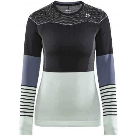 Craft FUSEKNIT COMFORT BLOCKED RN LS W - Women's functional T-shirt