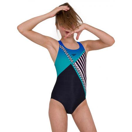 Girls' one piece swimsuit - Speedo DIGITAL PLACEMENT MEDALIST - 3