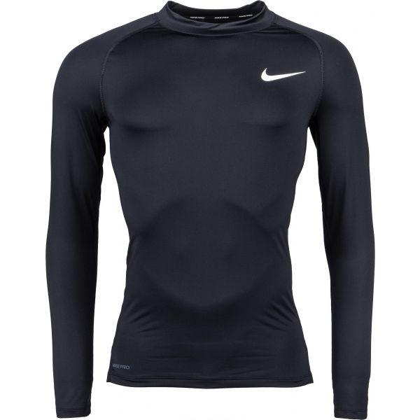 Nike NP TOP LS TIGHT MOCK M  2XL - Pánske tričko s dlhým rukávom