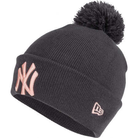 New Era WMNS MLB BOBBLE KNIT NEW YORK YANKEES - Дамска зимна шапка