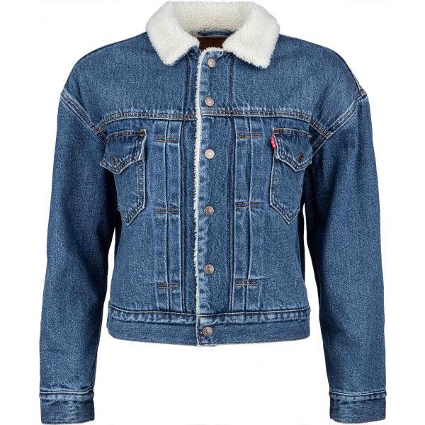 Levi's NEW HERITAGE SHERPA  L - Dámska džínsová bunda