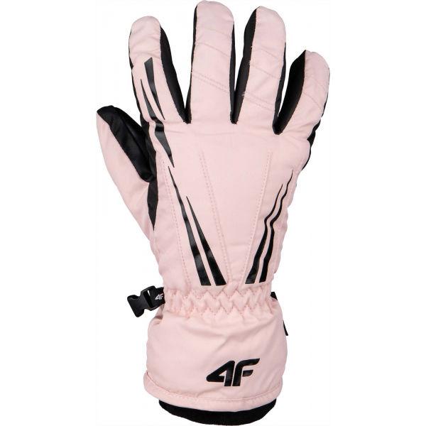 4F SKI GLOVES růžová M - Lyžařské rukavice