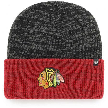47 NHL CHICAGO BLACKHAWKS TWO TONE BRAIN FREEZE '47 CUFF KNIT B - Winter beanie