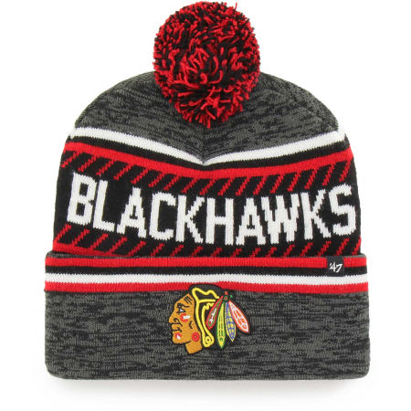 47 NHL CHICAGO BLACKHAWKS ICE CAP '47 CUFF KNIT GRY
