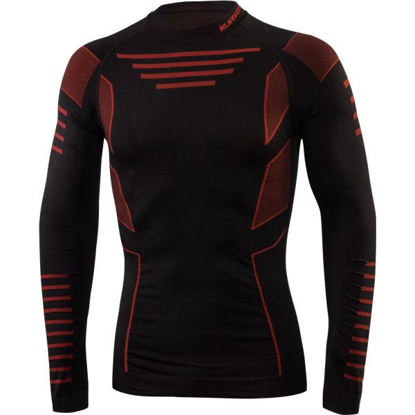 Klimatex CROUL čierna L - Funkčné pánske bezšvové tričko