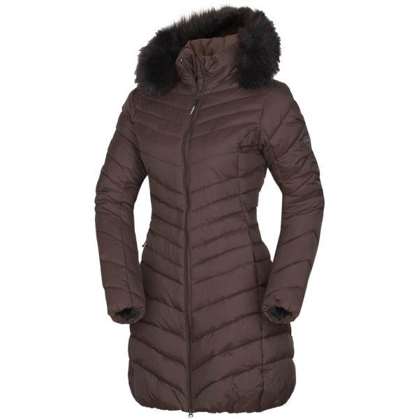 Northfinder VONILA hnedá L - Dámska dlhá zimná bunda