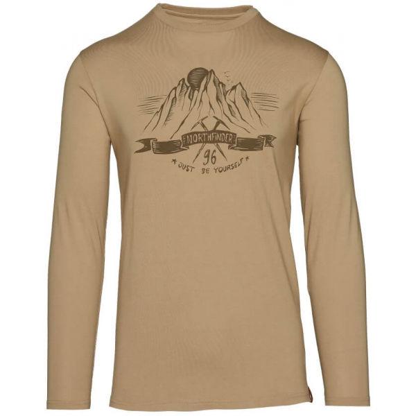 Northfinder ORGEJ hnědá XXL - Pánské tričko