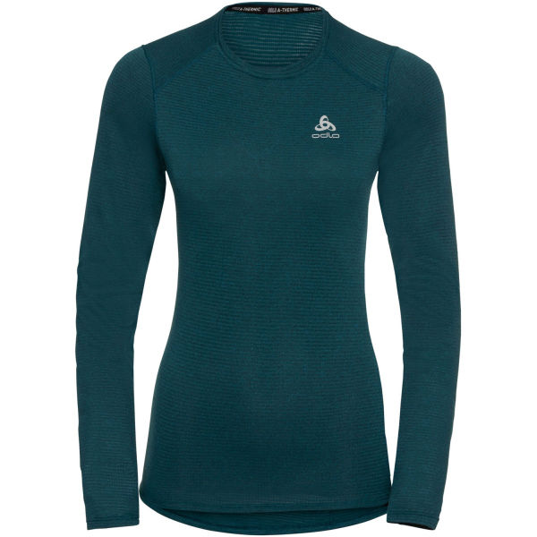Odlo BL TOP CREW NECK L/S ACTIVE THERMIC modrá L - Dámské funkční tričko