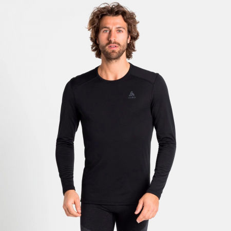 Men's functional T-shirt - Odlo BL TOP CREW NECK L/S ACTIVE THERMIC - 3