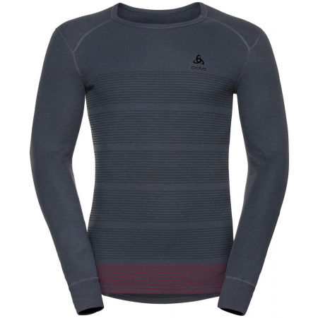 Odlo L/S CREW NECK GOD JUL PRINT - Pánské funkční tričko