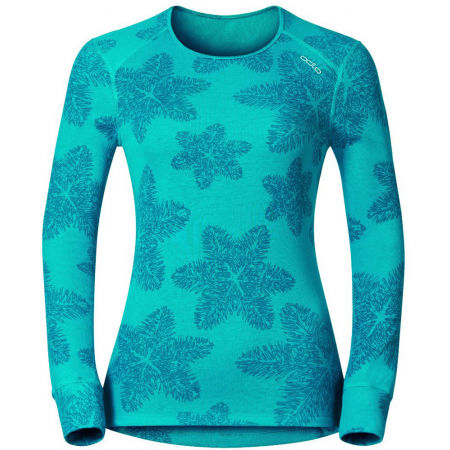 Odlo L/S CREW NECK GOD JUL PRINT WIN - Women's functional T-shirt