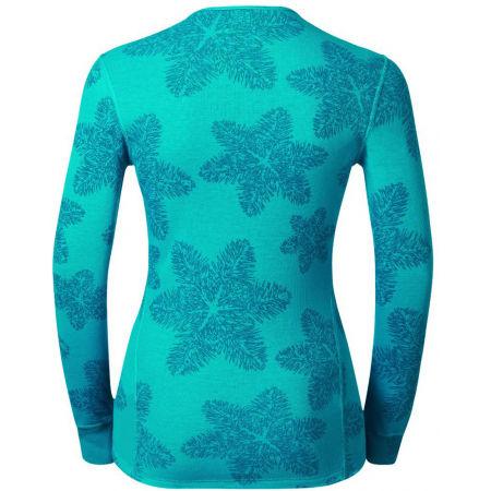 Women's functional T-shirt - Odlo L/S CREW NECK GOD JUL PRINT WIN - 2
