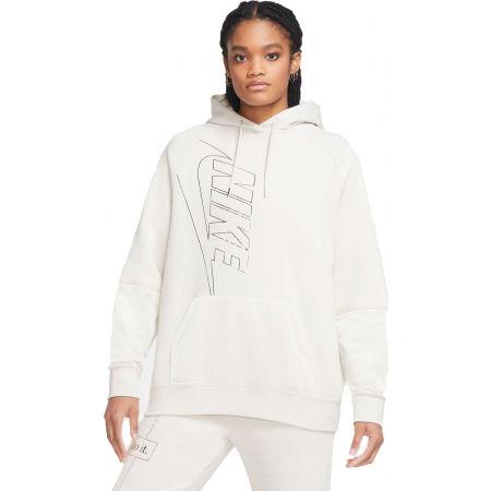 Nike NSW ICN CLSH HOODY FLC OS W - Dámská mikina