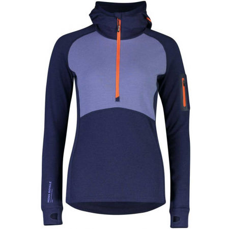 MONS ROYALE ASCEND MIDI HALF ZIP - Women's merino wool functional sweatshirt