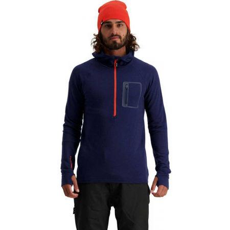 Men's merino wool functional sweatshirt - MONS ROYALE TRAVERSE MIDI HALF ZIP - 3