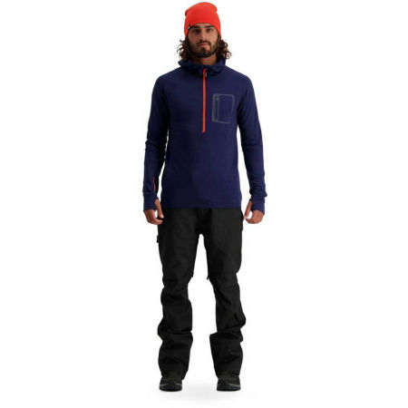 Men's merino wool functional sweatshirt - MONS ROYALE TRAVERSE MIDI HALF ZIP - 4