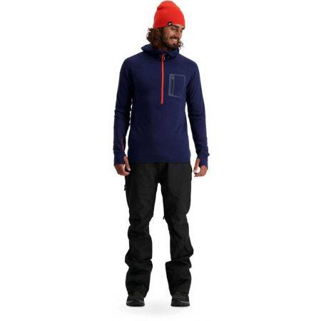 Men's merino wool functional sweatshirt - MONS ROYALE TRAVERSE MIDI HALF ZIP - 5