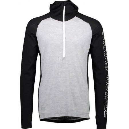 MONS ROYALE TEMPLE TECH - Men's merino wool functional T-shirt with long sleeves