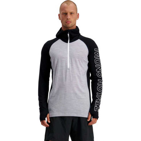 Men's merino wool functional T-shirt with long sleeves - MONS ROYALE TEMPLE TECH - 4