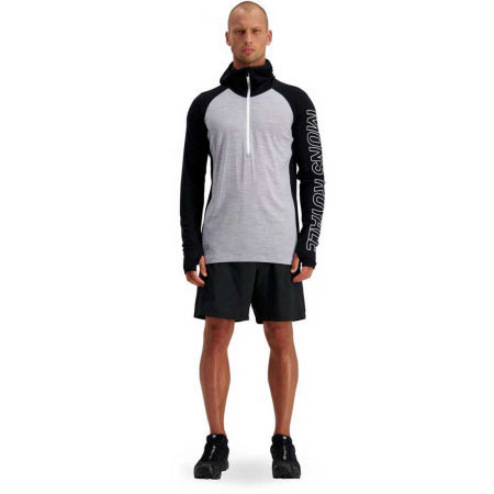 Men's merino wool functional T-shirt with long sleeves - MONS ROYALE TEMPLE TECH - 5