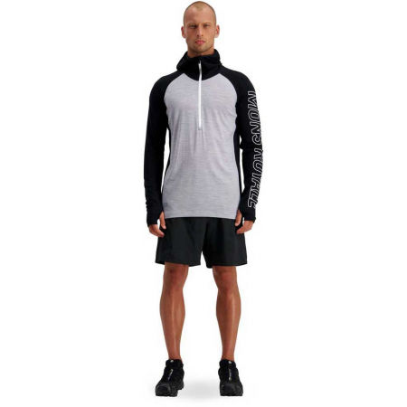 Men's merino wool functional T-shirt with long sleeves - MONS ROYALE TEMPLE TECH - 7