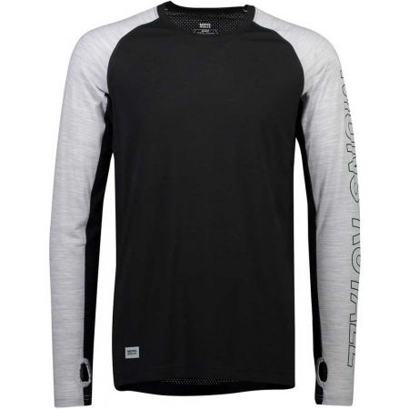 MONS ROYALE TEMPLE TECH LS - Men's merino wool functional T-shirt