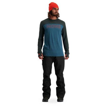 Pánské triko z merino vlny - MONS ROYALE YOTEI TECH LS - 4