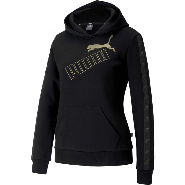 Puma AMPLIFIED HOODIE FL černá M - Dámská mikina