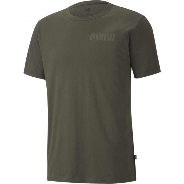Puma MODERN BASICS TEE hnědá S - Pánské triko