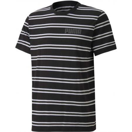 Tricou bărbați - Puma MODERN BASICS STRIPED TEE - 1