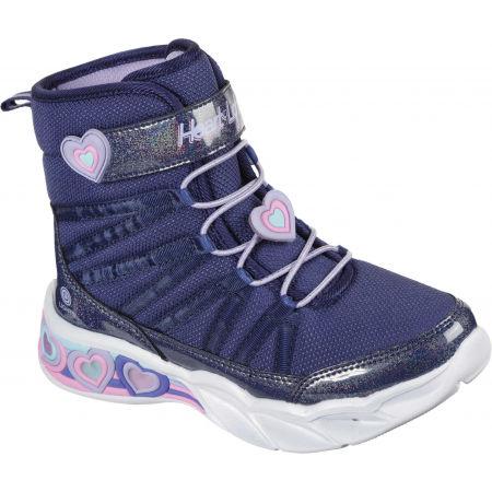 Skechers SWEETHEART LIGHTS - Detská zimná obuv