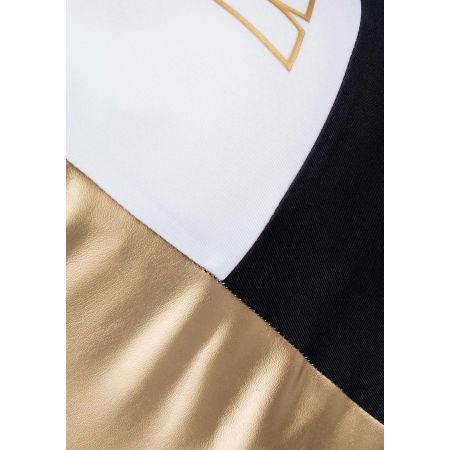Dámská sportovní podprsenka - Nike SWOOSH MTLC LOGO BRA PAD - 4