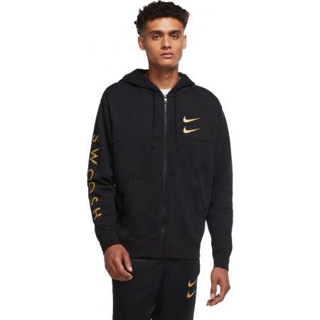 Nike NSW SWOOSH HOODIE FZ SBB MTL M - Pánská mikina