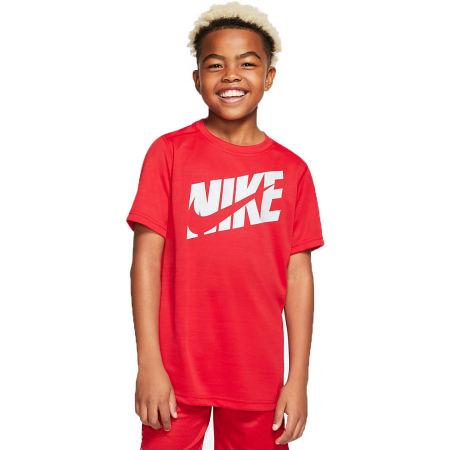 Nike HBR + PERF TOP SS B - Тениска за тренировка за момчета