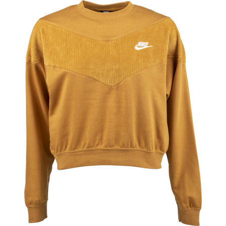 Women's sweatshirt - Nike NSW HRTG CREW VELOUR W - 1