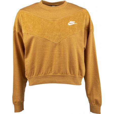 Nike NSW HRTG CREW VELOUR W - Дамски суитшърт