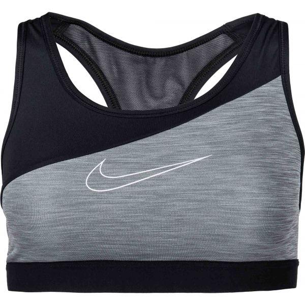 Nike SWOOSH BAND MTLC LOGO BRA  XS - Dámská sportovní podprsenka